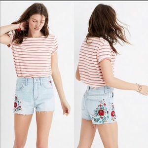 Madewell The Perfect Jeans Short Embroidery 28